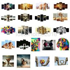 4 Panel Canvas Print Wall Art Oil Painting Picture Hotel Bar Home Decor Noframe