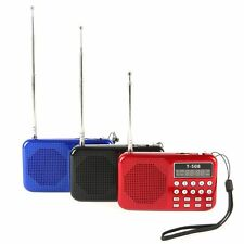 Mini LCD Digital FM Radio Speaker Portable Micro USB TF Card MP3 Music Player