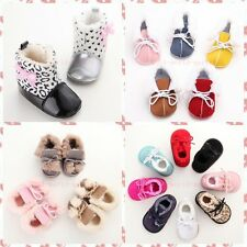 Baby Kids Infant Boys Girls Warm Snow Boots Fur Winter Toddler Crib Shoes 0-18M