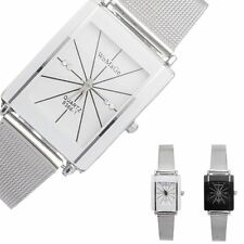 New Luxury Watch Women/men's Stainless Steel Square Analog Quartz Wrist Watch