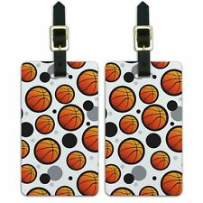 Luggage Suitcase Carry-On ID Tags Set of 2 Basketball