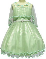 Sunny Fashion Flower Girls Dress Pearl Belt Pageant Wedding Party Age 3-14 Years