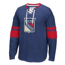 New York Rangers Blue CCM Long Sleeve Jersey Crewneck Shirt