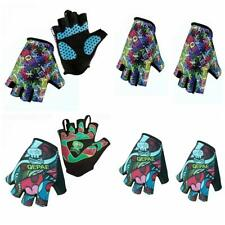 Outdoor Cycling Cycle Bike Bicycle Fingerless Gel Padded Gloves Breathable