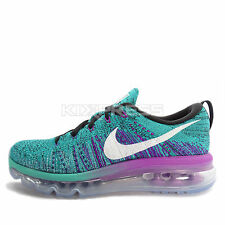 WMNS Nike Flyknit Max [620659-013] Running Black/White-Clear Jade-Hyper Violet