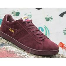 Shoes Gola Equipe CMA495RX207 Man Sneakers Vintage Suede Burgundy