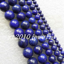 Intriguing Lapis Lazuli 4-12mm Round Loose bead 15.5 inch X1052