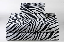 AU Bedding Collection  - 1000 TC 100% Egyptian Cotton Zebra Print