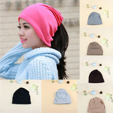 Winter Lady Women Hat Scarf And Hat Head Dual-use Knitted Chic Warm Cap