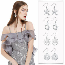 Silver Plated Charming Women Jewelry Various Shape Design Pendant Earrings