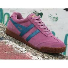 Shoes Gola Harrier CLA192KA204 Woman Sneakers Suede Dusky Pink Teal