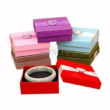 Cardboard Ring Earring Necklace Bracelet Case Jewelry Gift Display Storage Box