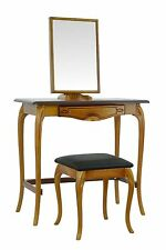 BRITISH MADE. Dressing table set with small stool, in an Antique Oak finish