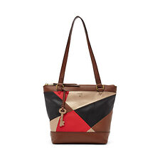 BRAND NEW FOSSIL GIFTING PRINTED SMALL SHOPPER TOTE BAG RED MULTI/RED/BLACK MULT