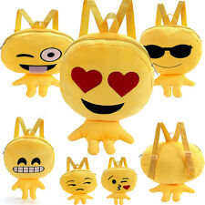 Lovely Kid Expression Plush Toys Bags Yellow Girls Boy Children's Soft Backpack