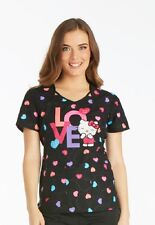 Scrubs Cherokee Print Top Sweet Hello Kitty 6799CB HKWE FREE SHIPPING!