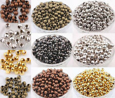 2.4/3.2/4/5/6/8mm Metal Round Ball Spacer Beads Gold Silver Bronze Copper Black