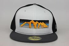 Denver Nuggets White Front / Black Sides / Gray Lid New Era 59Fifty Fitted Hat