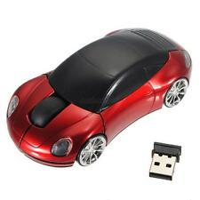 2.4G Wireless Optical Mouse LED Light Car Shape Mice & USB Receiver For PC NEW