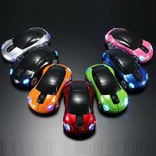 2.4G Wireless LED Light Car Shape Optical Mouse Mice & USB Receiver For PC Hot