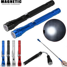 Flexible Torch Telescopic Powerful 3 LED Magnetic Pick Up Tool Torch Flashlight