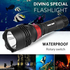 500M Underwater 5000LM XM-L T6 LED Camping Diving Flashlight Waterproof Torch US