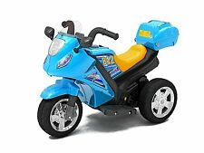 Kids Double Powered Motor - Motorcycle #812 - Blue  OOLOR