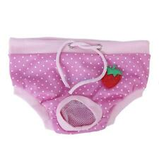 Female Pet Dog Physiological Sanitary Pant Panty Diaper Underwear Pink 4 Size