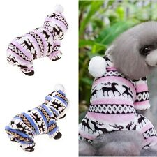 Pet Dog Puppy Warmer Winter Soft Sweater Hoodie Jumpsuit Coat Clothes Outwear
