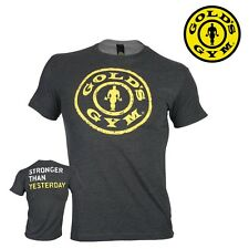 Golds Gym T-Shirt Stronger Than Yesterday - Fitness Bodybuilding Sports - NEW