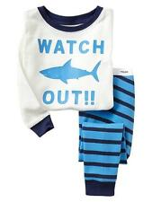 Baby Gap Pajamas NWT SHARK WATCH OUT graphic 2pc long pjs 18-24, 2T