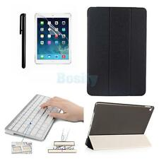 PU Leather Folio Stand Case with Bluetooth Keyboard+ Stylus pen for iPad Pro