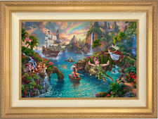 Thomas Kinkade Disney Peter Pan's Never Land 18 x 27 LE S/N Canvas Framed
