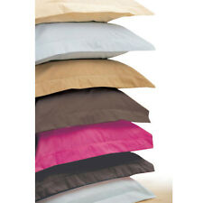 Wholesale 500TC Ultra Soft 4PC Pillow Shams Solid 100%Cotton All Sizes & Colors