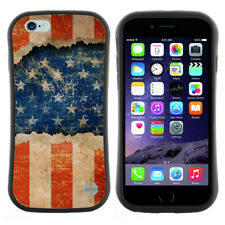 Anti-Shock Tpu Case Bumper Cover For Apple iPhone Grunge ripped paper USA flag