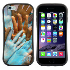 Anti-Shock Tpu Case Bumper Cover For Apple iPhone Colorful Holi Human Hands