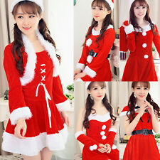 LITTLE MISS Women's Santa Christmas Costume CLAUS XMAS Fancy Dress Party Outfit