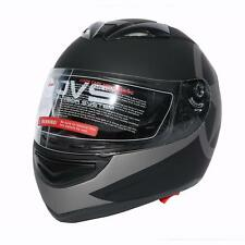 DOT Star Black Dual Visor Full Face Motorcycle Helmet+Sun Shield S M L XL XXL