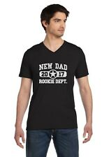 New Dad 2017 Rookie Department Gift for a New Father V-Neck T-Shirt Father's Day