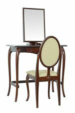 BRITISH MADE. Dressing table set with Chair, in an Antique Redwood finish