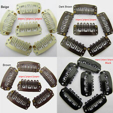 U-Shaped Hair Extension Clip-on Wig Weft Snap Metal Pins Comb Clips 30/50pcs
