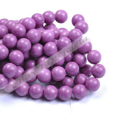 Wholesale Women Howlite Purple Turquoise Gemstone Round Loose Beads 4/6/8/10MM
