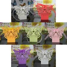 20pcs Hollow Butterfly Laser Cut Ribbon Baby Shower Party Gift Boxes Cake Bag