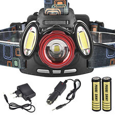 15000LM 3x XML T6 USB Rechargeable Headlamp HeadLight Torch Lamp +18650+ Charger