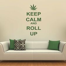 Keep Calm And Roll Up Keep Calm Quotes Wall Stickers Home Decor Art Decals