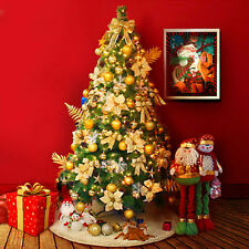 5/6ft Artificial Christmas Tree Green with Metal Stand Xmas Decorations