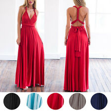 Multi Wear Women Long Dress Prom Evening Party Bridesmaid Wedding Formal Gown