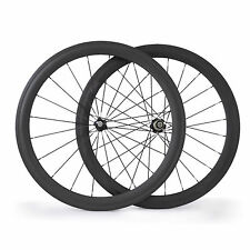 700C 23mm Width 50mm depth Clincher Carbon bicycle wheels Road Bike wheelset NEW