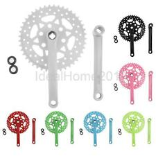 Fix 44T Fixie Crankset Crank for Fixed Gear Bike Bicycle Road Bicycle 7 Colors