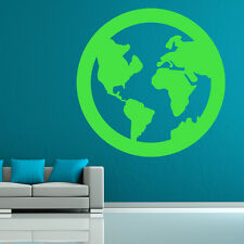 Planet Earth World Planets And Space Wall Stickers Solar System Art Decals